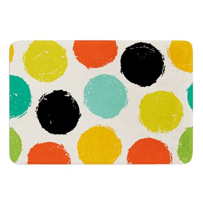 Retro Dots by Daisy Beatrice Bath Mat Size: 17W x 24L