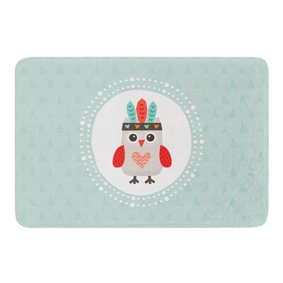 Hipster Owlet by Daisy Beatrice Bath Mat Size: 17W x 24L
