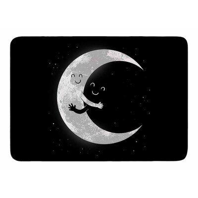Moon Hug by Digital Carbine Bath Mat