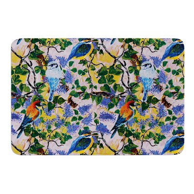Birds by DLKG Design Bath Mat Size: 17W x 24L