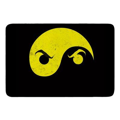 Yin Yang Ninja by Frederic Levy-Hadida Bath Mat Size: 24 W x 36 L