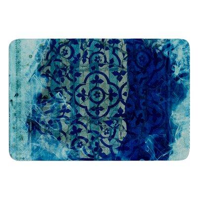 Mosaic in Cyan by Frederic Levy-Hadida Bath Mat Size: 17W x 24L