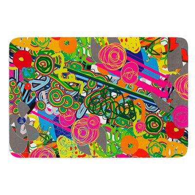 Psychedelic Garden by Frederic Levy-Hadida Bath Mat Size: 24 W x 36 L