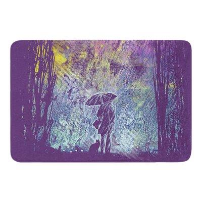 Rain by Frederic Levy-Hadida Bath Mat Size: 17W x 24L