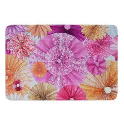 Blossoming by Heidi Jennings Bath Mat Size: 24 W x 36 L