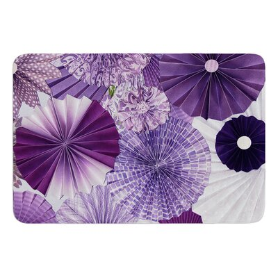 Lavender Wishes by Heidi Jennings Bath Mat Size: 24 W x 36 L