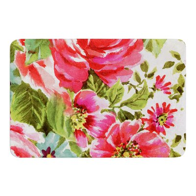 Walk Through The Garden by Heidi Jennings Bath Mat Size: 24 W x 36 L