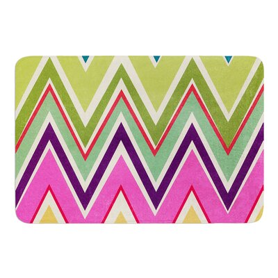 Clash Of Color by Heidi Jennings Bath Mat Size: 17W x 24L
