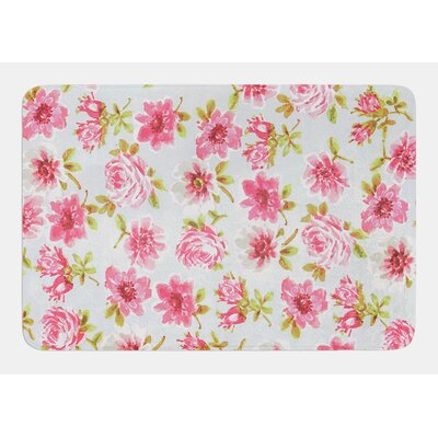 Petals Forever by Heidi Jennings Bath Mat Size: 17W x 24L