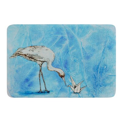Crane by Kira Crees Bath Mat Size: 17 W x 24 L