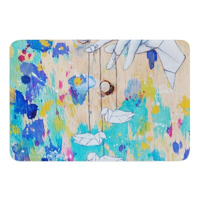 Origami Strings by Kira Crees Bath Mat Size: 17 W x 24 L