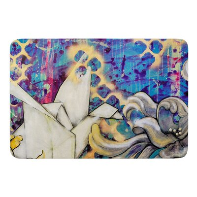 Peonies and Crane by Kira Crees Bath Mat Size: 24 W x 36 L