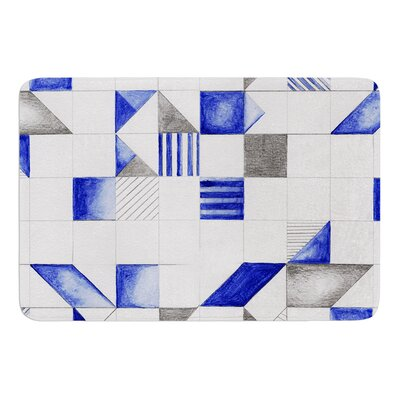 Winter Geometry by Kira Crees Bath Mat Size: 17 W x 24 L