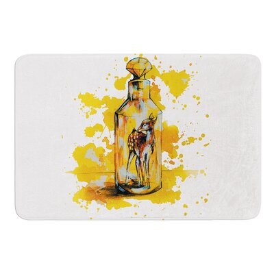 Vintage Bottled Deer by Kira Crees Bath Mat Size: 17 W x 24 L