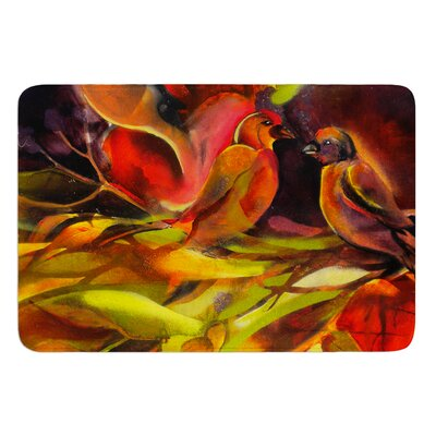 Mirrored in Nature by Kristin Humphrey Bath Mat Size: 17 W x 24 L