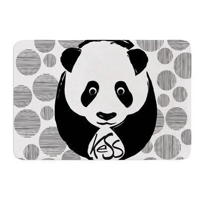 Panda Bath Mat Size: 17