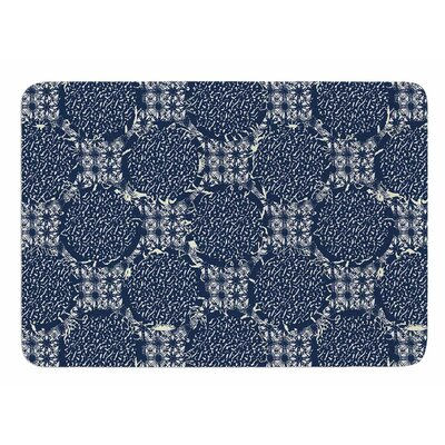 Indigo Lattice by Laura Nicholson Bath Mat