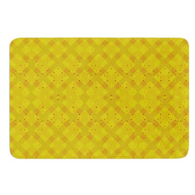 Dotted Plaid by Mydeas Bath Mat Size: 17W x 24L
