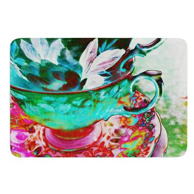Mad Hatters T-Party IV by alyZen Moonshadow Bath Mat Size: 24 W x 36 L