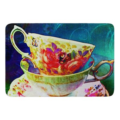 Mad Hatters T-Party V by alyZen Moonshadow Bath Mat Size: 24 W x 36 L
