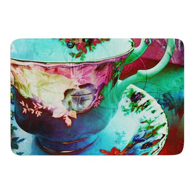 Mad Hatters T-Party VI by alyZen Moonshadow Bath Mat Size: 17W x 24L