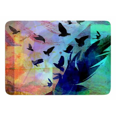 Not Quite Birds Of A Feather by AlyZen Moonshadow Bath Mat