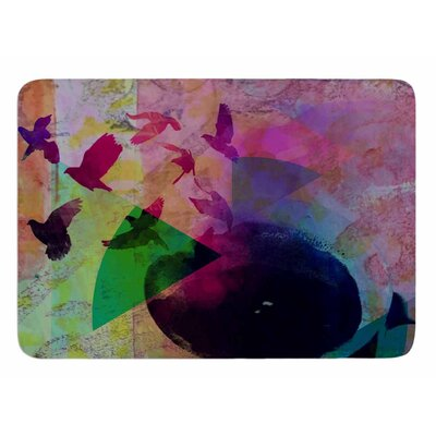 Tea Birds by AlyZen Moonshadow Bath Mat