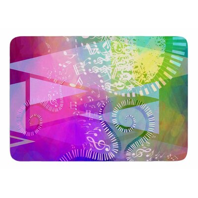 Musical Tendrils by AlyZen Moonshadow Bath Mat
