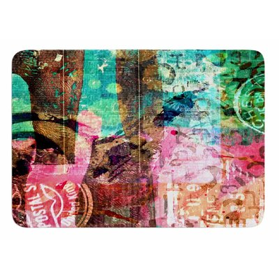 Green Abstract by AlyZen Moonshadow Bath Mat