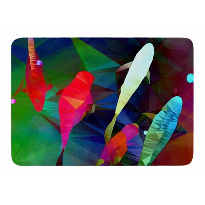 Fish 2 by AlyZen Moonshadow Bath Mat
