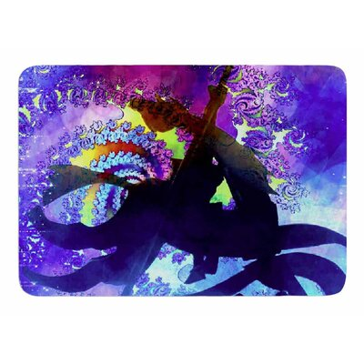 Midnight Horse by AlyZen Moonshadow Bath Mat