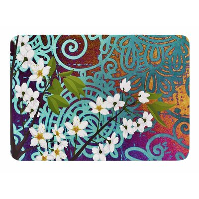 Bird And Blossom by AlyZen Moonshadow Bath Mat