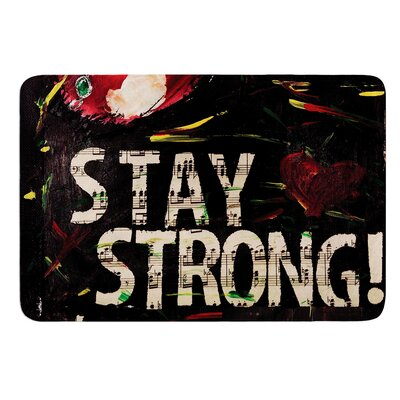 Stay Strong by Alexa Nicole Bath Mat Size: 17W x 24L