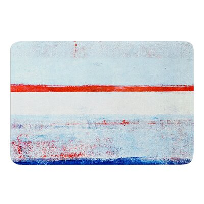 Stripes by CarolLynn Tice Bath Mat Size: 17W x 24L