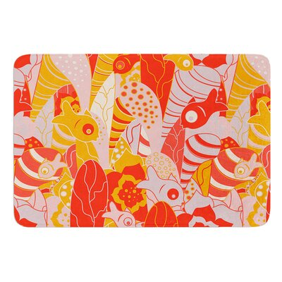 Fishes Here, Fishes There by Akwaflorell Bath Mat Size: 17W x 24L
