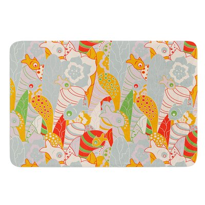Fishes Here, Fishes There 2 by Akwaflorell Bath Mat Size: 24 W x 36 L