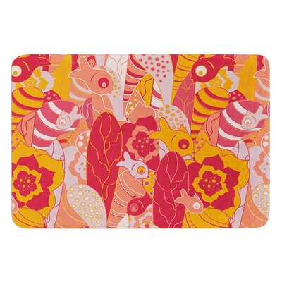 Fishes Here, Fishes There 3 by Akwaflorell Bath Mat Size: 17W x 24L