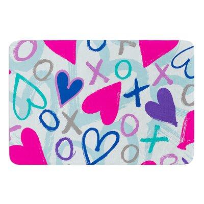Hearts a Flutter by Emine Ortega Bath Mat Size: 17W x 24L