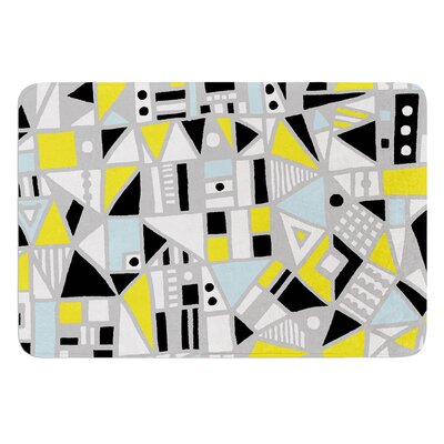 Fun Geo Too by Emine Ortega Bath Mat Size: 17W x 24L