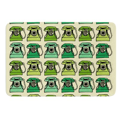 Grandmas Telephone by Holly Helgeson Bath Mat Size: 24 W x 36 L