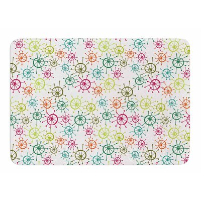 Mod Flower Burst by Holly Helgeson Bath Mat