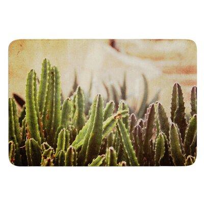 Grass Cactus by Jillian Audrey Bath Mat Size: 17w x 24L