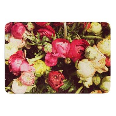 Ranunculus by Jillian Audrey Bath Mat Size: 24 W x 36 L