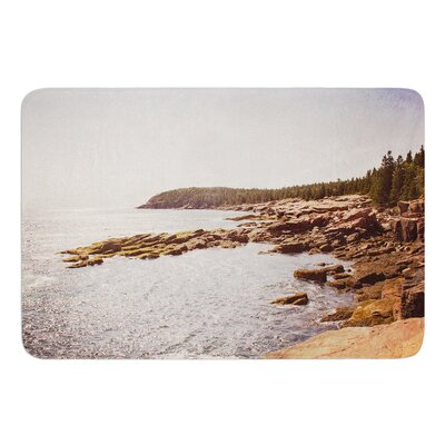 The Maine Coast by Jillian Audrey Bath Mat Size: 17 W x 24 L