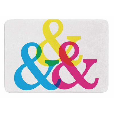 CYMK Ampersands by Jackie Rose Bath Mat