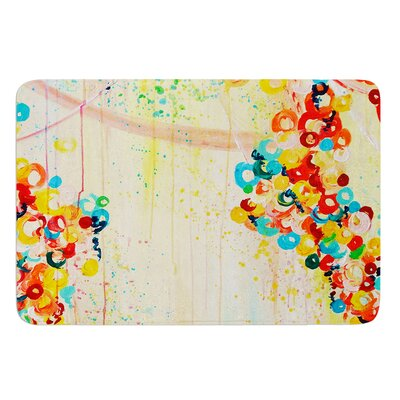 Summer in Bloom by Ebi Emporium Bath Mat Size: 24 W x 36 L