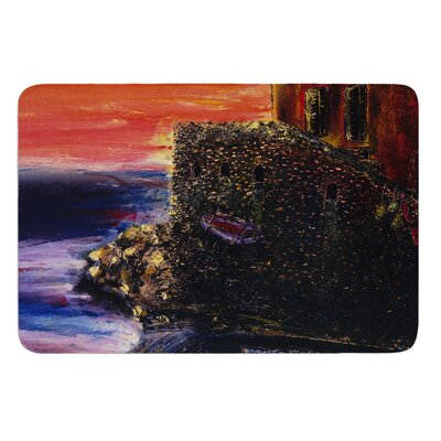 Seaside Village by Josh Serafin Bath Mat Size: 17 W x 24 L