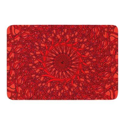 Mandala Spin Romance by Patternmuse Bath Mat Size: 17 W x 24 L