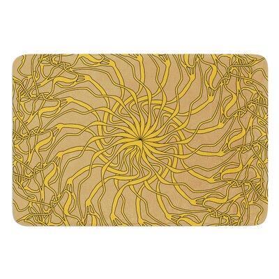 Mandala Spin Latte by Patternmuse Bath Mat Size: 24 W x 36 L