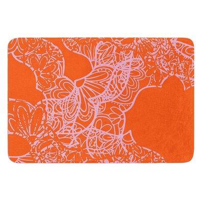 Mandala Pumpkin by Patternmuse Bath Mat Size: 17 W x 24 L